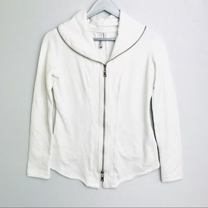 Milia Clothing Zipper Sweatshirt/Jacket SzM White